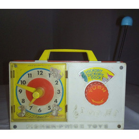 Juguete Antiguo Reloj Fisher Price