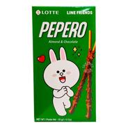 Lotte Pepero Line Friends Galleta Con Chocolate Y Almendra