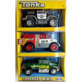Set De Minivehiculos Marca Tonka - Policias Y Bomberos