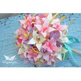 Ramos Y Bouquets De Novias Con Flores En Papel Origami