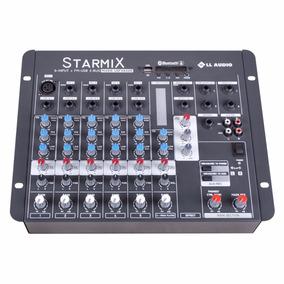 Mesa De Som 6 Canais Starmix Usfx602r Com Bluetooth E Efeito
