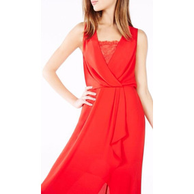 Vestido Bcbg Graduacion Boda Color Rojo