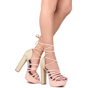 Sandalias Marca Qupid Importadas Nude Rf Zara