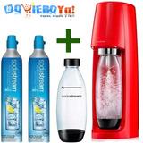Sodastream Fabrica Hacer Soda + Botella + 2 Repuestos Co2