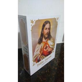 Bíblia Sagrada Católica - Edição Luxuosa Capa Branca Com Cd