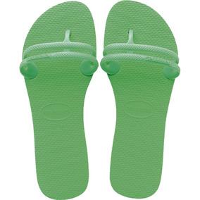 Sandalia Havaiana Flat Gum Verde Pastel 33/34