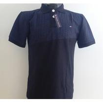 Camisa Playera Polo Tommy Hilfiger Color Negro-marino Hombre