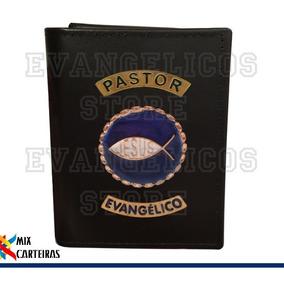Carteira Pastor Evangélico Super Luxo (logo Jesus) 03