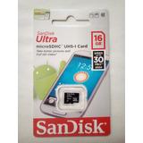 Memoria Sandisk Micro 16 Gb Clase 10 30mb/s Ultra Rápida!