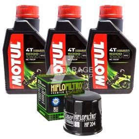 Kit Óleo+filtro Honda Cbr 600f 10-13 Motul 5000 10w30+204