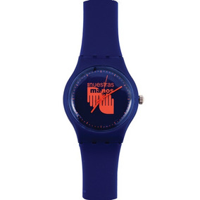 Reloj En Nuestras Manos Azul/naranja