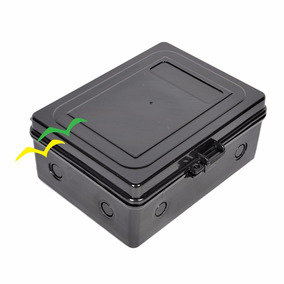 Caixa Hermética Pequena Multiuso Wireless P/ Poste Preta