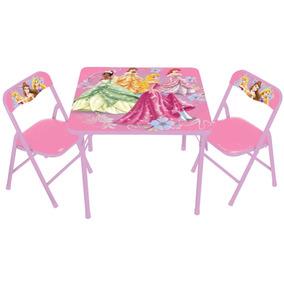 Set De Mesa Y 2 Sillas De Disney Princess Para Niñas Vbf
