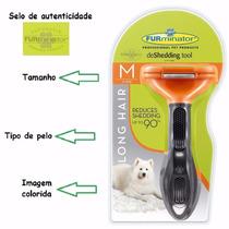 Escova Tira Pêlos Furminator Para Cães Médios Pêlos Longos E