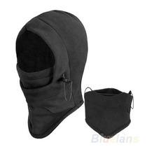 Máscara Térmica Ajustable Balaclava Negra Moto Con Envio