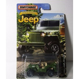 Willys Guerra Jeep Escala 7cm Coleccion Matchbox