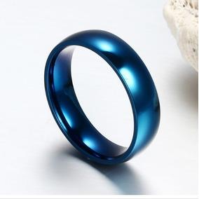 Anel Aliança Compromisso Aço Inoxidável Azul Leia O Anuncio