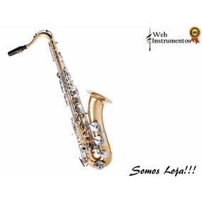 Saxofone Tenor Jahnke Bb Laqueado Chaves Níquel Oferta!!!