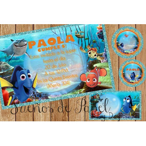 Kit Imprimible Nemo Dori Invitación Bolo Recuerdo Fiesta