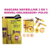 Mascara Maybelline 3 En 1 Rimmel+delineador+polvo