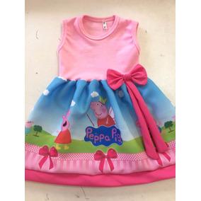 Vestido Infantil Festa Peppa Pig Roupa/fantasia