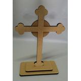 Cruz Com Base Mdf 9mm Artigos Religiosos Católicos