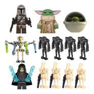 Pack Figuras Star Wars Mandalorian Baby Yoda Droides