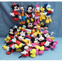 Pelucias Mickey Minnie Pluto Pateta Margarida Pato Donald