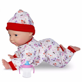 Boneca Bebê Dudu Engatinha Novabrink