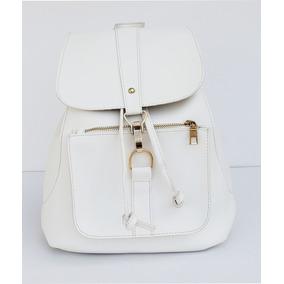 Cartera Color Blanco De Pu, Cuero Ecologico K1100-11