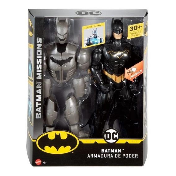 Mu?eco Batman Armadura De Poder Luz Sonido Mattel Original