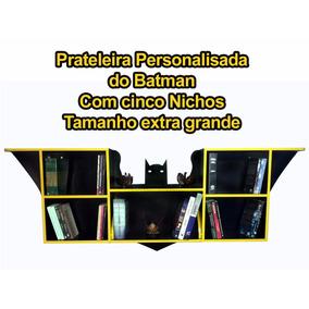 Prateleira Do Batman Extra Grande Com 5 Nichos + Brinde