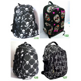 Mochila Escolar_notebook_estampa Jack_caveiras_j.rock_emo