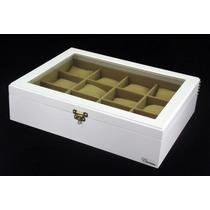 Caixa Estojo Porta 12 Relógios Organizador Luxo