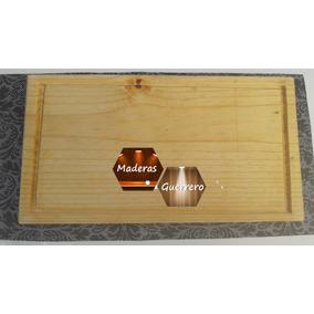 Plato, Tabla De Madera De Pino Para Carne 25 X 35 Cm