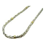 Cadena Espiga N° 2 Plata 925 Oro 18k. Promoción Garantía Garantia Escrita Fabrica En Todas Las Medidas El Trust Joyero