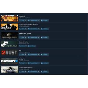 Steam Cs:go, Rust, Hurtworld, Cs:source E Cs:1.6