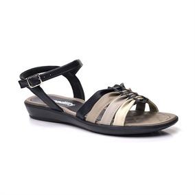 Sandalia Piccadilly 500129 - Preto/fendi/cinza/gris