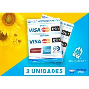 2 Adesivos Cartão De Crédito E Débito Mercado Pago