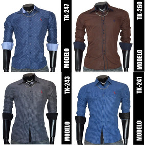 Camisa Social Slim Fit De Luxo Tamanho Gg