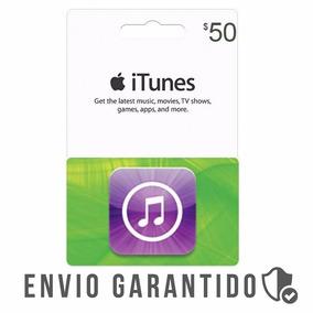 Itunes Gift Card $50 Dólares Usa Envio Imediato
