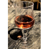 Glass Of Cognac On A Rustic Wood Table : 150 Page Lined 6 X