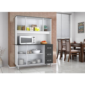 Armário De Cozinha Poliman Móveis Ravena 7 Portas E 3 Gaveta
