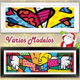 Quadro Decorativo R. Britto C/ Vidro 1,04mt The Hug E Outros