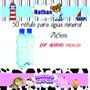 Kit 50 Rótulos Para Garrafinha De Água Mineral