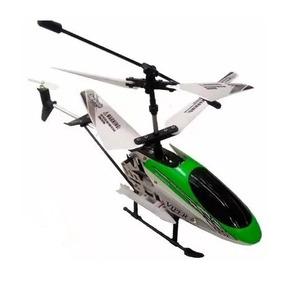 Mini Helicóptero R/c Volitation Verde Y Rojo