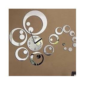 Relógio Decorativo Espelhado Bolas