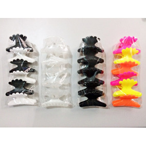 Piranha Para Cabelo Grande Plastica P/ Cabelereiro - 24 Unid
