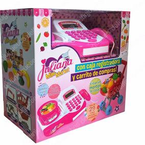 Juliana Mini Market Caja Registradora + Carrito