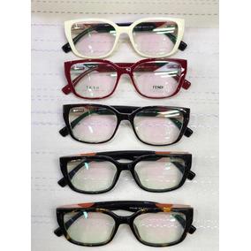 Armação Quadrada Fendi - Óculos no Mercado Livre Brasil 15f4bf77ac